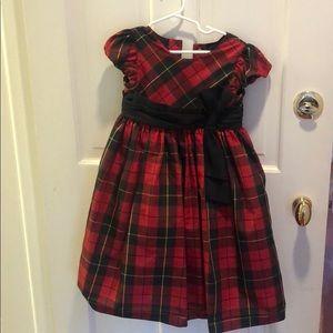 Ralph Lauren Girl's size 4 Holiday plaid dress.